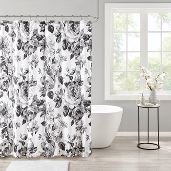 Dorsey Floral Printed Shower Curtain