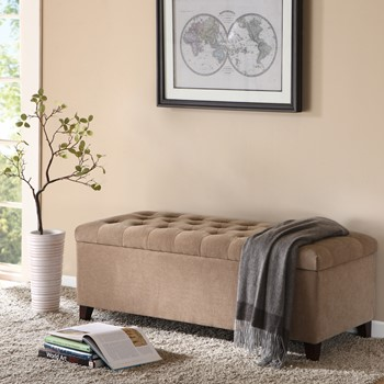 Shandra Tufted Top Storage Bench
