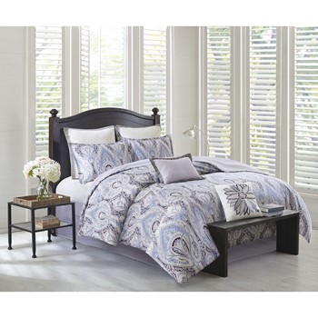 Ivy Paisley Cotton Sateen Reversible Comforter Set