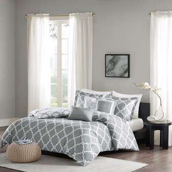 Merritt 6 Piece Reversible Duvet Cover Set