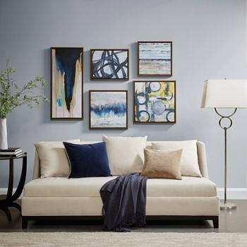 home decor designer. Blue Bliss Gallery Art 5 Piece Set Home Furnishings  Bedding D cor Designer Living