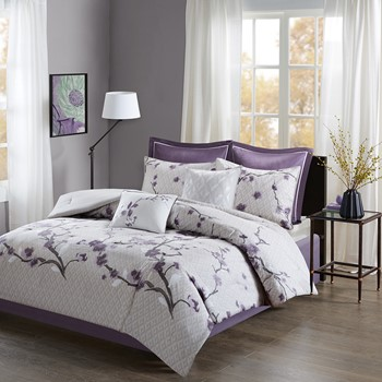 Holly 8 Piece Cotton Comforter Set