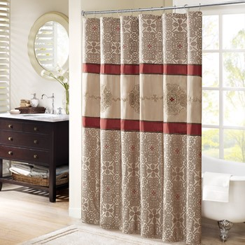 Donovan Embroidered Shower Curtain