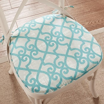 Daven Fretwork 3M Scotchgard Indoor/Outdoor Chair Pad Pair