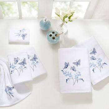 Solandis 6 Piece Embroidered Towel Set