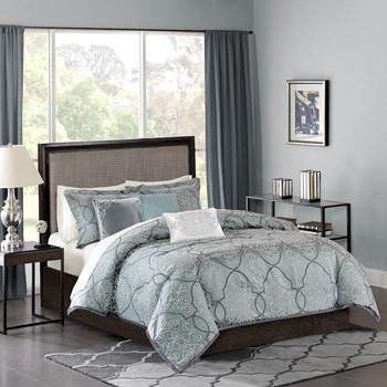 Lavine 6 Piece Jacquard Duvet Cover Set
