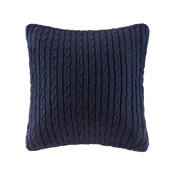 Buckley Cable Knit Euro Sham Navy