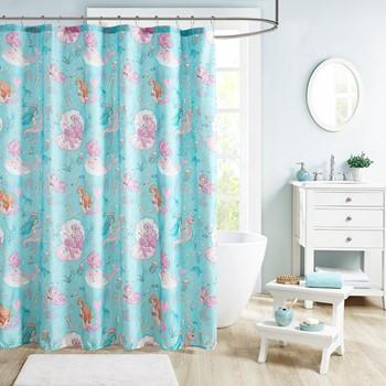 Darya Printed Mermaid Shower Curtain