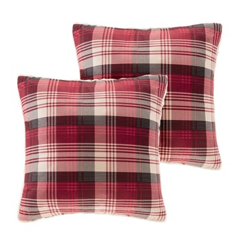 Tasha Softspun to Berber Square Pillow Pair