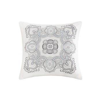 Larissa Embroidered Cotton Decorative Pillow