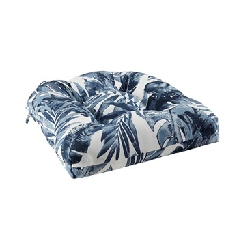 Everett Printed Palm 3M Scotchgard Outdoor Seat Cushion