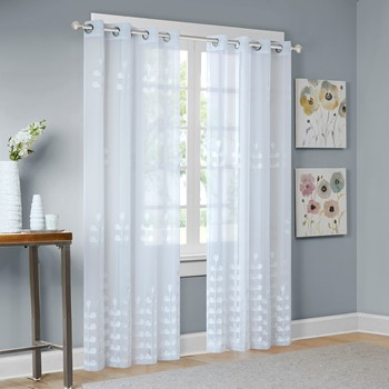 Jolie Embroidered Sheer Window Panel