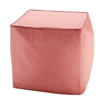 Pacifica Solid 3M Scotchgard Outdoor Square Pouf