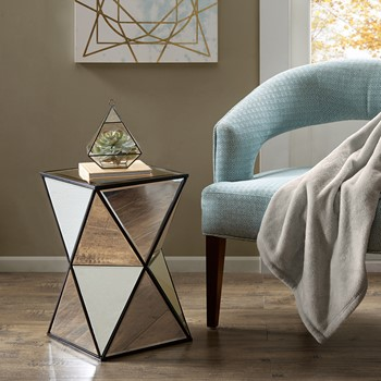 Hendrix Angular Mirror Accent Table