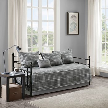Daryl 6 Piece Plaid Reversible Daybed Set