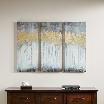 Grey Forest Gel Coat Canvas 3 Piece Set
