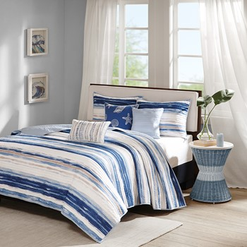 Marina 6 Piece Quilted Coverlet Set