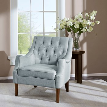 Qwen Button Tufted Accent Chair