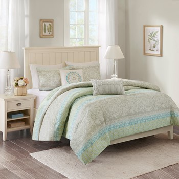 Adeline 5 Piece Duvet Cover Set