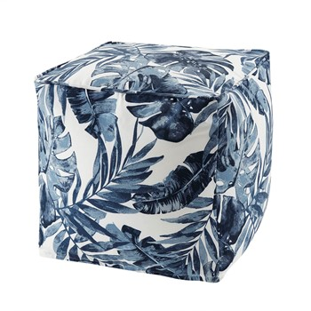 Everett Printed Palm 3M Scotchgard Outdoor Pouf