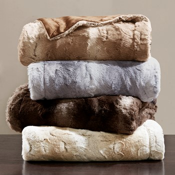 Zuri Oversized Faux Fur Throw