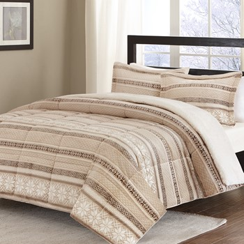 Print Microlight to Berber Comforter Mini Set