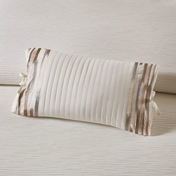 Hanae Embroidered Cotton Oblong Decorative Pillow