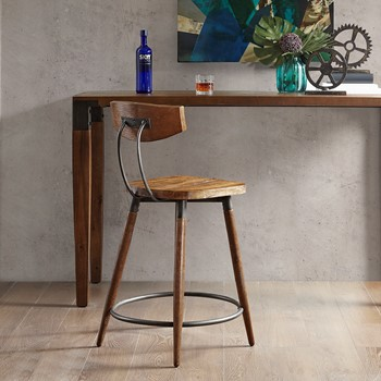"""Frazier Counter Stool 24"""" With Back"""