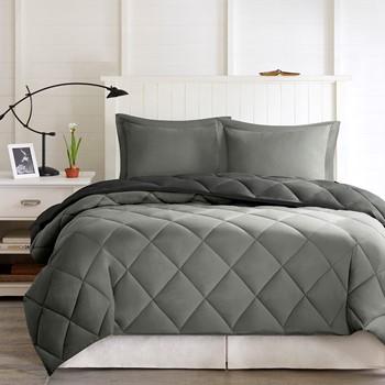 Larkspur 3M Scotchgard Diamond Quilting Reversible Down Alternative Comforter Set