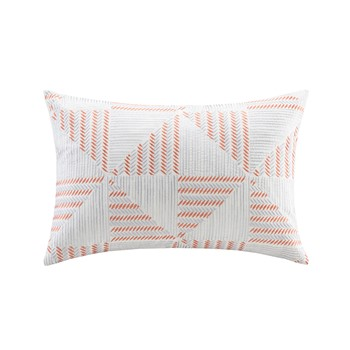 Frankie Embroidered Oblong Pillow