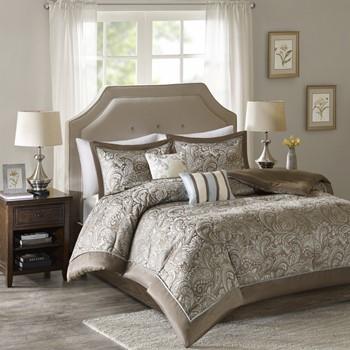 Charlize Jacquard 5 Piece Comforter Set