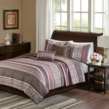 Princeton 5 Piece Jacquard Coverlet Set