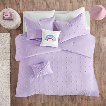 Callie Cotton Jacquard Pom Pom Comforter Set