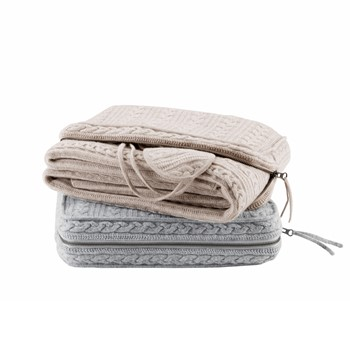 Cashmere Blend Travel Throw Set