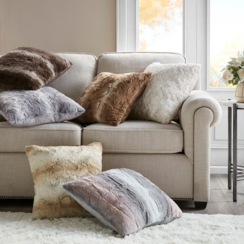 Zuri Faux Fur Square Pillow