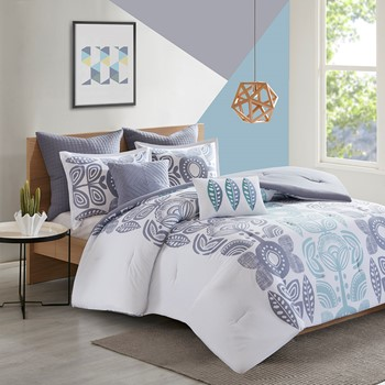 Kiri 7 Piece Cotton Comforter Set