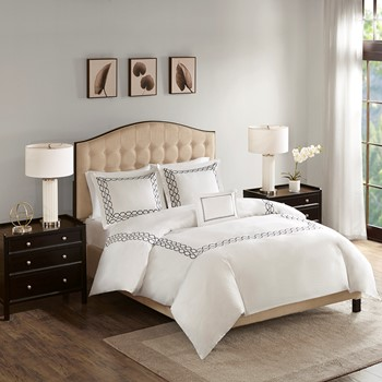 Luxury Oversized 1000 Thread Count Embroidered Cotton Sateen Comforter Set