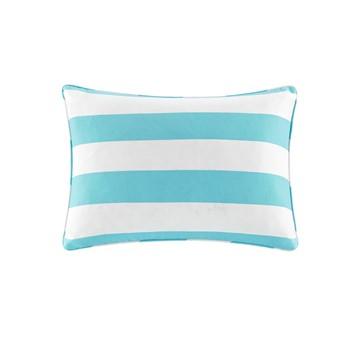 Percee Printed Cabana Stripe 3M Scotchgard Outdoor Oblong Pillow