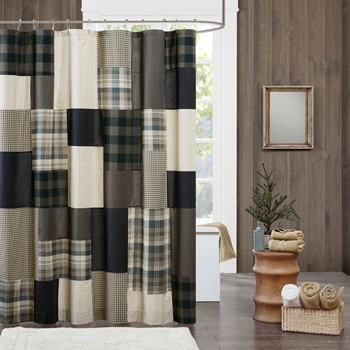 Winter Hills 100% Cotton Shower Curtain