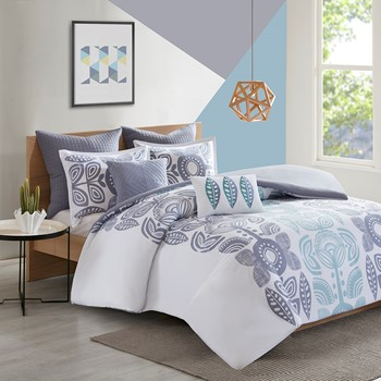 Kiri 7 Piece Cotton Duvet Cover Set