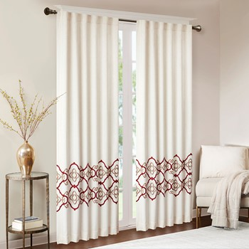 Akemi Border Embroidered Window Panel