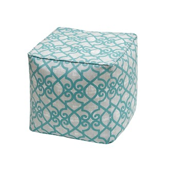 Daven Fretwork 3M Scotchgard Outdoor Square Pouf