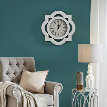 Lucca Metal Wall Clock with Glass