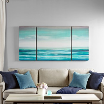 Teal Tides Gel Coat Canvas