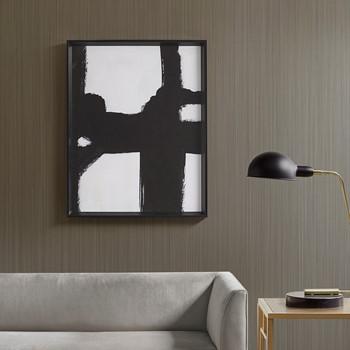 Directional Ebony Framed Canvas