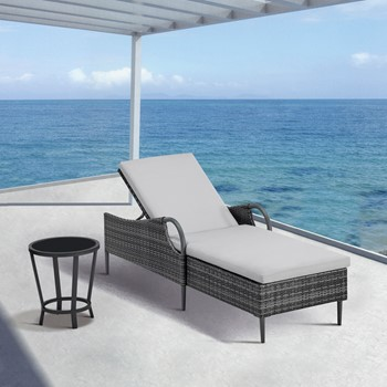 Dustin Patio Wicker Chaise Lounge