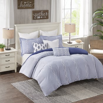Coastal Farmhouse Comforter Set