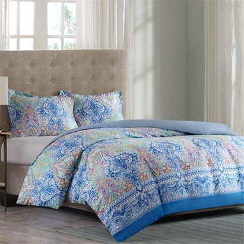 Painted Paisley Duvet Cover Mini Set