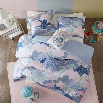 Cloud Cotton Printed Duvet Cover Set