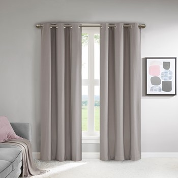 Lisa Solid Theater Grade Total Blackout Curtain Pair
